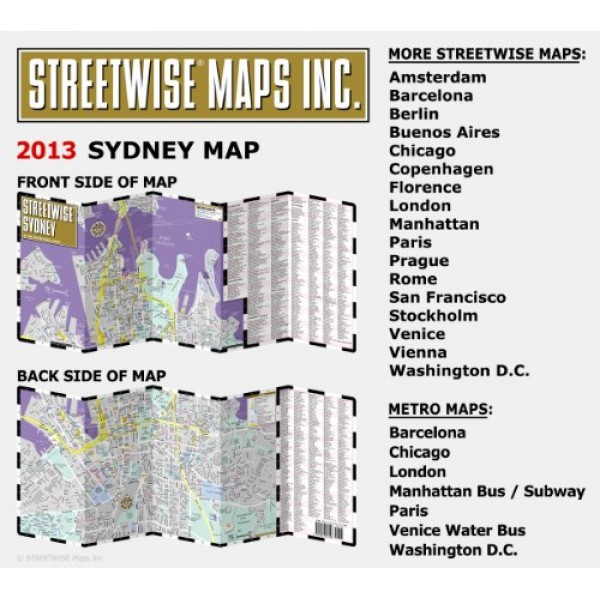 Streetwise Chicago Map.Streetwise Sydney Map Laminated City Center Street Map Of Sydney