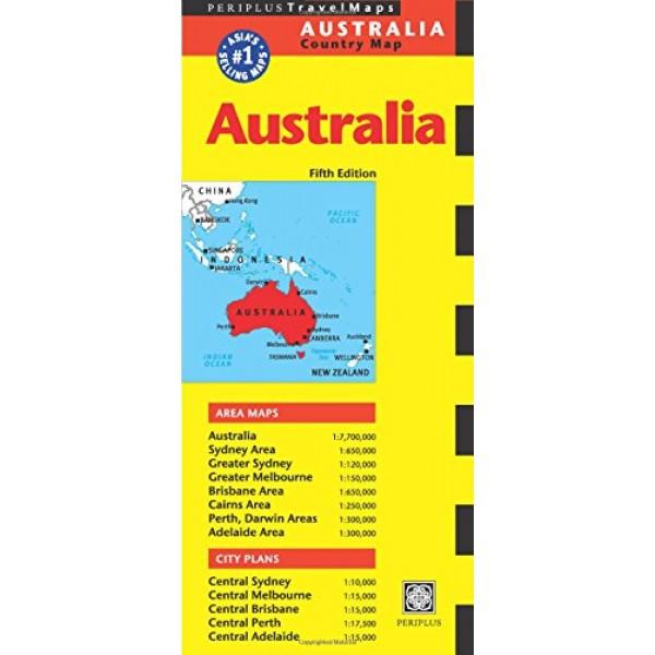 australia travel map fifth edition periplus travel maps